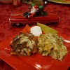 Red and Green Christmas Enchiladas